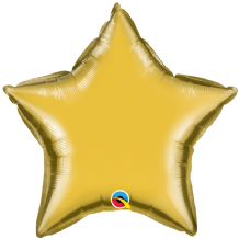 "Gold Star Foil Balloon (20"") 1pc"